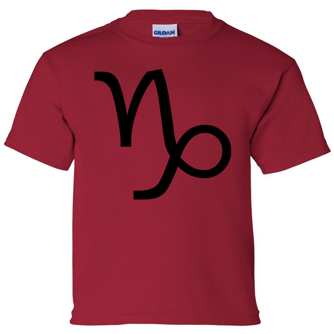 Capricorn astrology symbol asst colors youth t shirt tee for Cardinal color t shirts