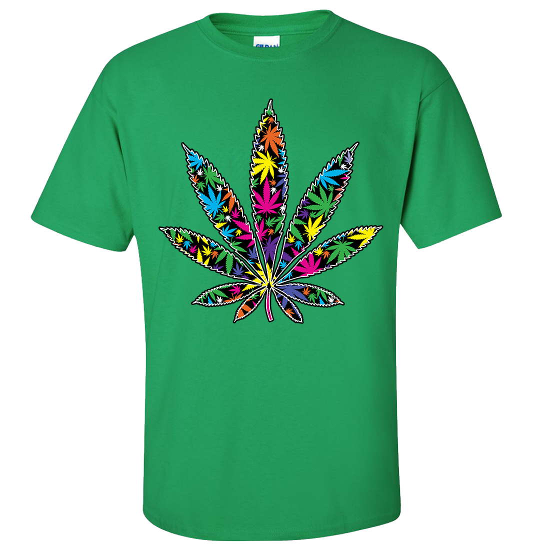 Neon party pot leaf asst colors t shirt tee ebay for Neon coloured t shirts