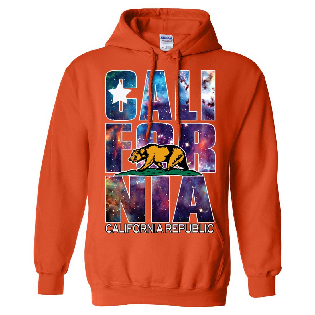 California republic cosmic state flag logo design space for Cosmic pattern clothing