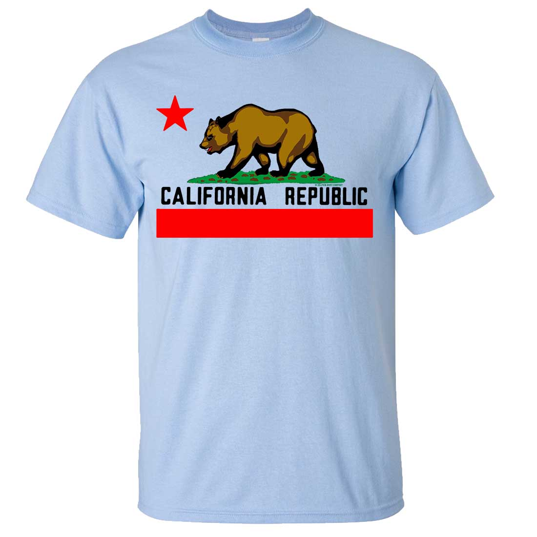 california republic borderless bear flag black text asst colors t shirt tee ebay. Black Bedroom Furniture Sets. Home Design Ideas