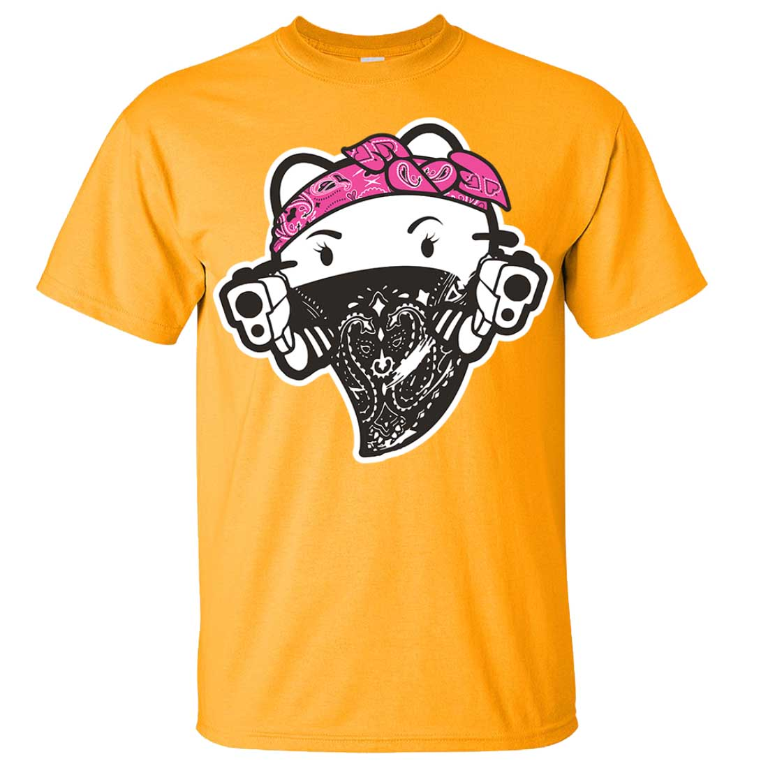 Hello kitty gangster thug asst colors t shirt tee ebay for Dolphins t shirt new logo