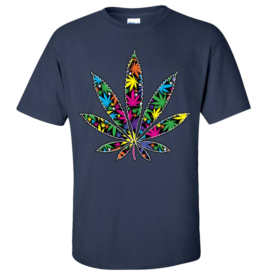 Neon party pot leaf asst colors t shirt tee ebay for Neon colored t shirts wholesale