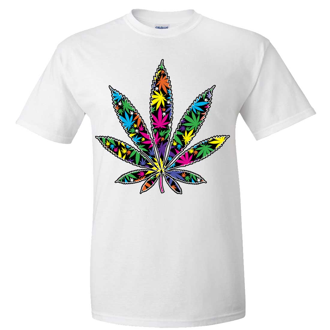 Neon party pot leaf asst colors t shirt tee ebay for How to sell t shirts